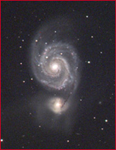 M51-Whirlpool Galaxy-Link to CCD section